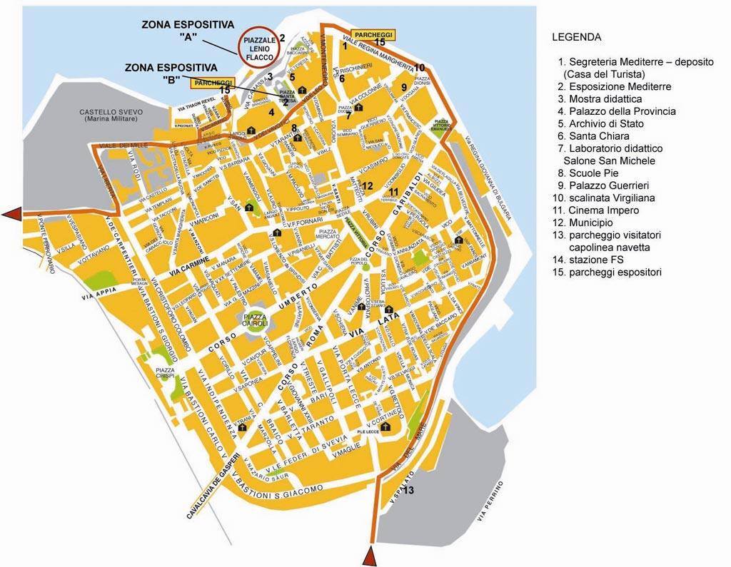 Cartina Italia Brindisi.Mappa Brindisi Cartina Di Brindisi